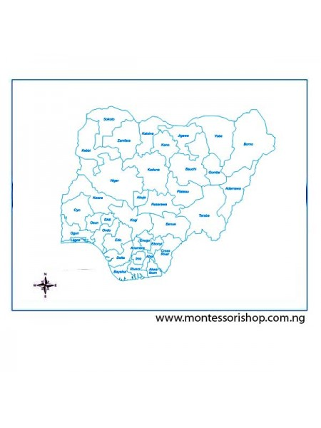 Labeled Nigeria Parts Control Map