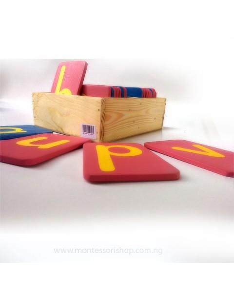 Lower Case Sandpaper Letters