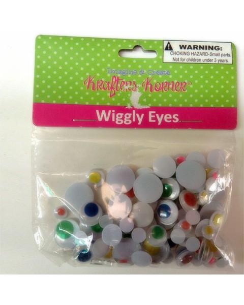 Wiggly Eyes  (Black & White)